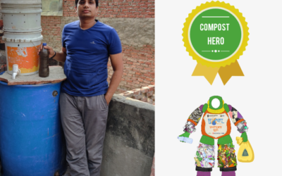 Shahdara Resident Pradeep Panchal is a Composting Hero in East Delhi