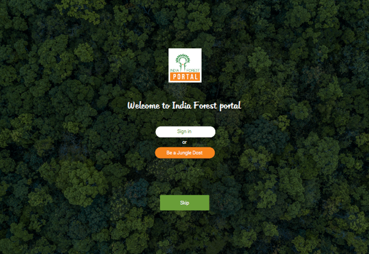 vertiver Initiatives India Forest Portal
